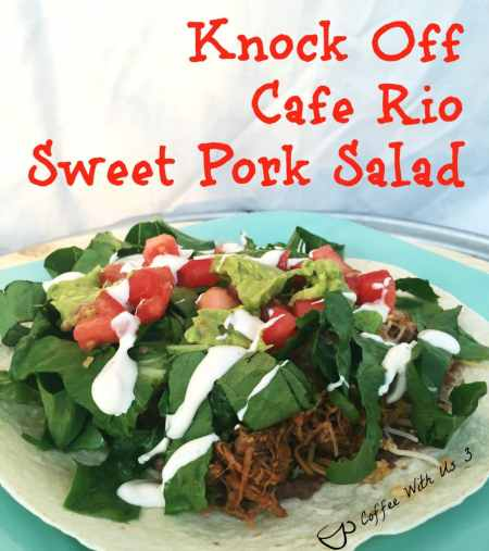 Knock off cafe rio sweet pork salad