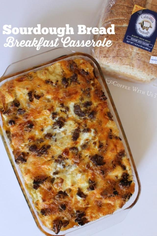 Sourdough Bread Breakfast Casserole