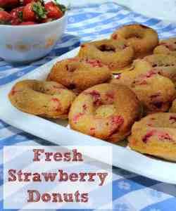 Fresh Strawberry Donuts