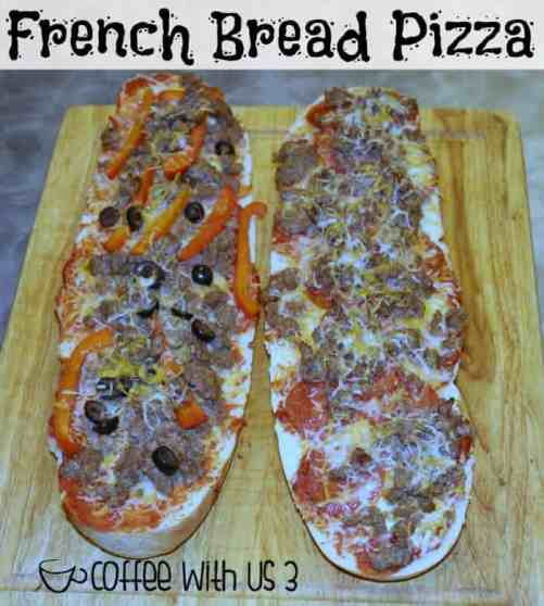 French Bread Pizza - A delicious & easy dinner idea! Perfect for kids to make for themselves or just a super simple & fast weeknight dinner.