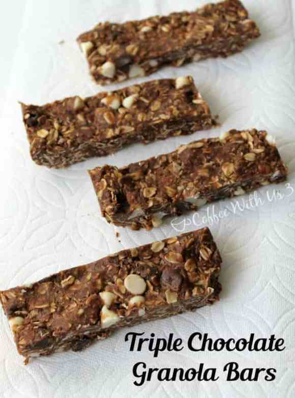 Triple Chocolate Granola Bars are a delicious snack recipe packed full of chocolate!
