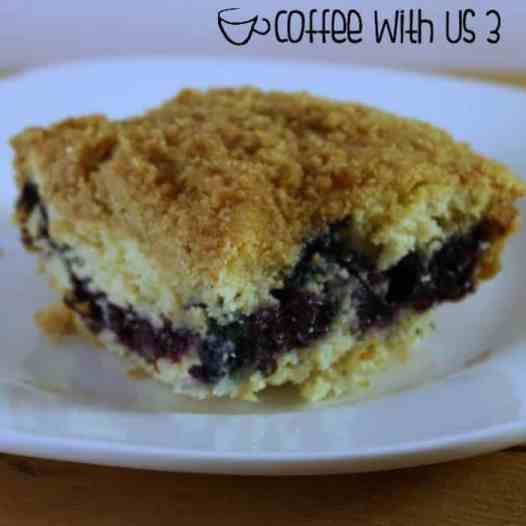 Traditional coffee cake flavors with a layer of sweet fruit make this blueberry coffee cake a winner for brunch or a coffee date with friends