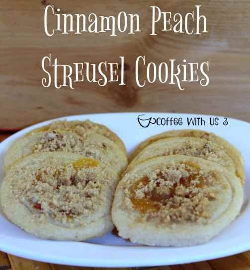 This recipe combines two of my favorite flavors cinnamon & peach with two of my favorite things cookies & streusel and makes for one AMAZING cookie recipe