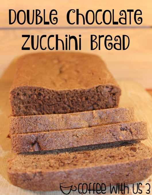 Chocolate & chocolate chips gives this Double Chocolate Zucchini Bread a rich taste while the zucchini keeps it moist.