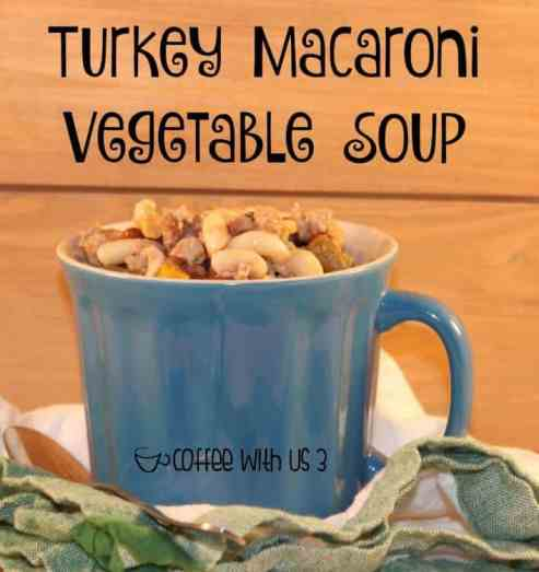 Thick & hearty this Turkey Macaroni Vegetable Soup is a delicious family dinner.