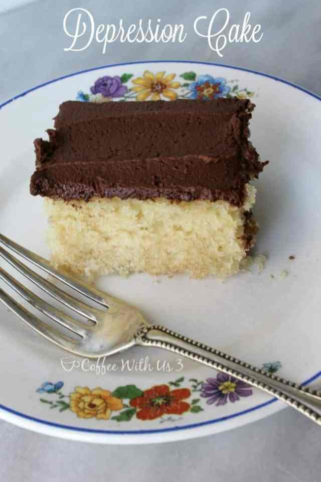 Dairy-free, egg-free Depression Cake is moist and delicious! The easiest cake you can make from scratch!