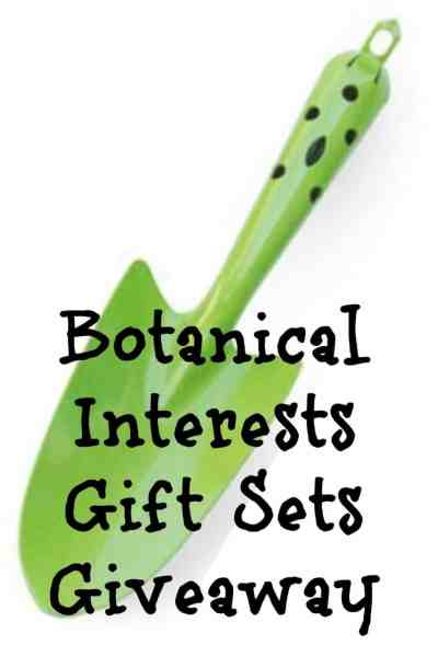 Are you a gardener or looking to start? Check out this super easy to enter giveaway for 3 different gift sets: Deluxe Garden Gift Set, Garden Starter Gift Set, and the Kitchen Garden Gift Set. Each includes amazing seeds from Botanical Interests and other garden tools to get you gardening. Click the pin to enter the giveaway now!