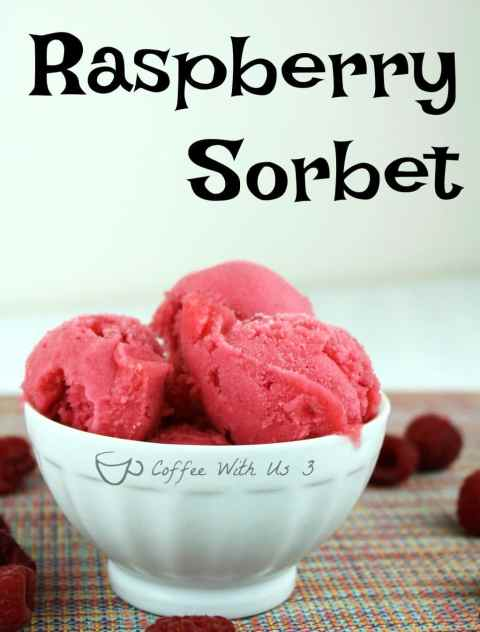 Raspberry Sorbet is a refreshing cold dessert that is low in calories. It is a perfect dessert for hot summer days. It is also dairy free.