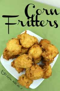 Corn fritters are a delicious bread. They are crispy on the outside and soft on the inside with the great flavor of corn throughout.