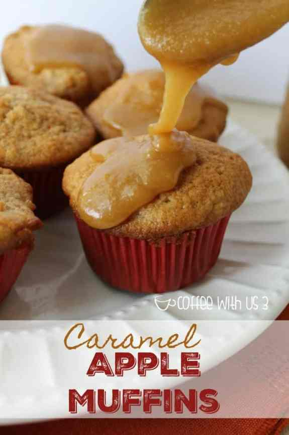 Caramel Apple Muffins are the taste of fall in breakfast form!