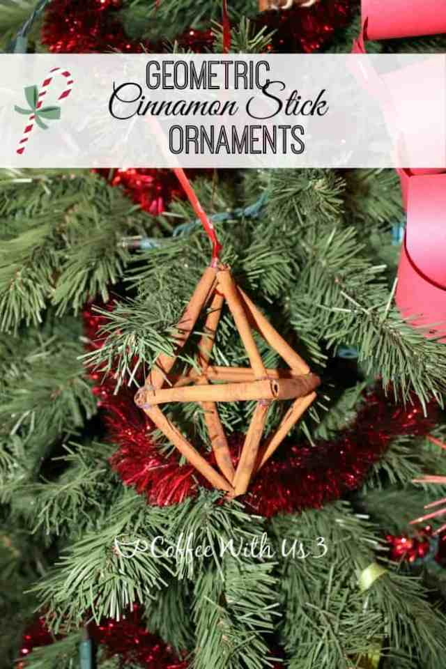 Making your own Geometric Cinnamon Stick Ornament is a fun and easy craft, and smells great!