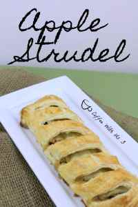 Apple Strudel is a delicious dessert that is made with puff pastry. The puff pastry is flaky and wonderful and the apples are sweet giving a perfect balance.