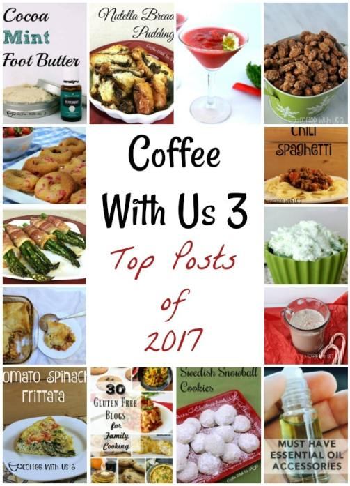 The best, most popular posts of 2017.  Find out what's trending on Coffee With Us 3!