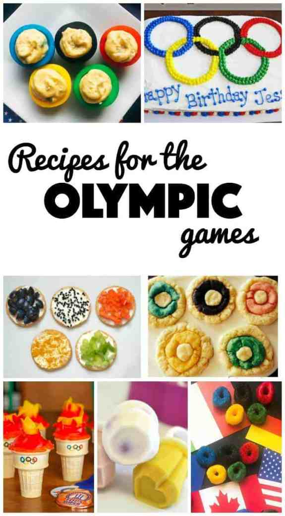 Enhance your Olympic games viewing by adding in some fun festive recipes for the Olympics! From cakes to salads to breakfast to drinks, and so much more!