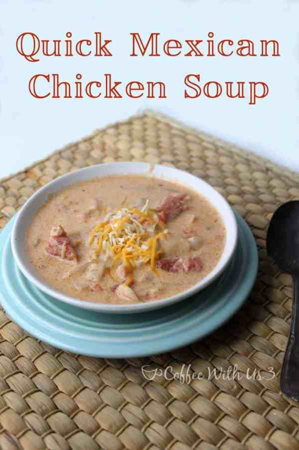 Quick Mexican Chicken Soup is made from scratch, but so easy! Keto friendly, low carb.