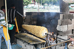 barbecue rotissoire bois
