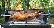 barbecue tourne broche mechoui