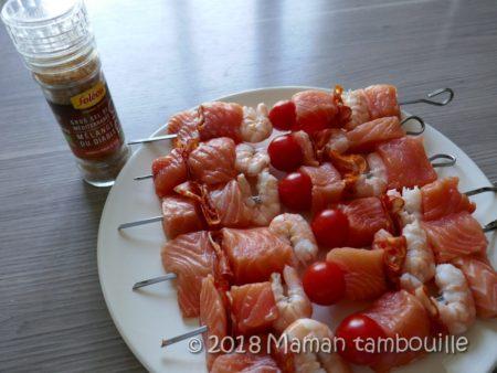 brochette saumon barbecue