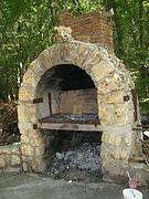 cheminée pour barbecue en pierre