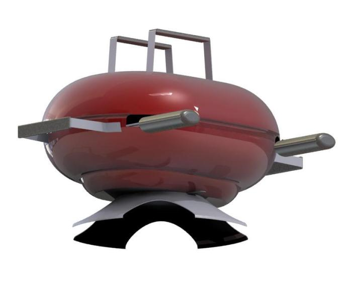 cuisson barbecue avec couvercle
