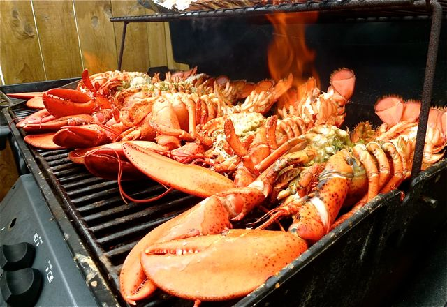 homard grillé au barbecue
