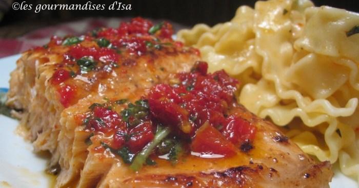 saumon barbecue recette