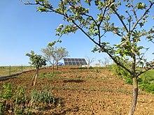 panneau solaire pose au sol