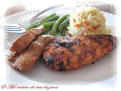 filet de poulet au barbecue