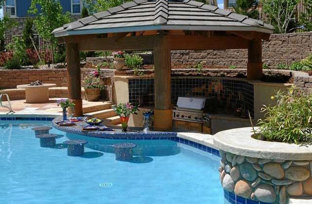 Pool Bar Design Ideas | Pool Design Ideas on Backyard Pool Bar Designs  id=44541