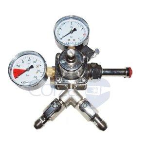 CO2 reduceer meter met Y fitting
