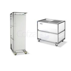 Koelkastbeschermcontainers, rolcontainers en flightcases voor koelkasten