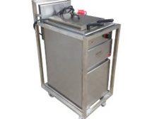 Beschermcontainer of transportkar voor frituur en kooktoestellen