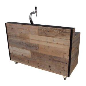 Bar met opstand - hout met zwarte hoeklijsten