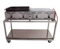 Hendi bbq gas grill master met mobiel onderstel