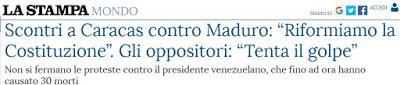 La stampa Maduro costituente