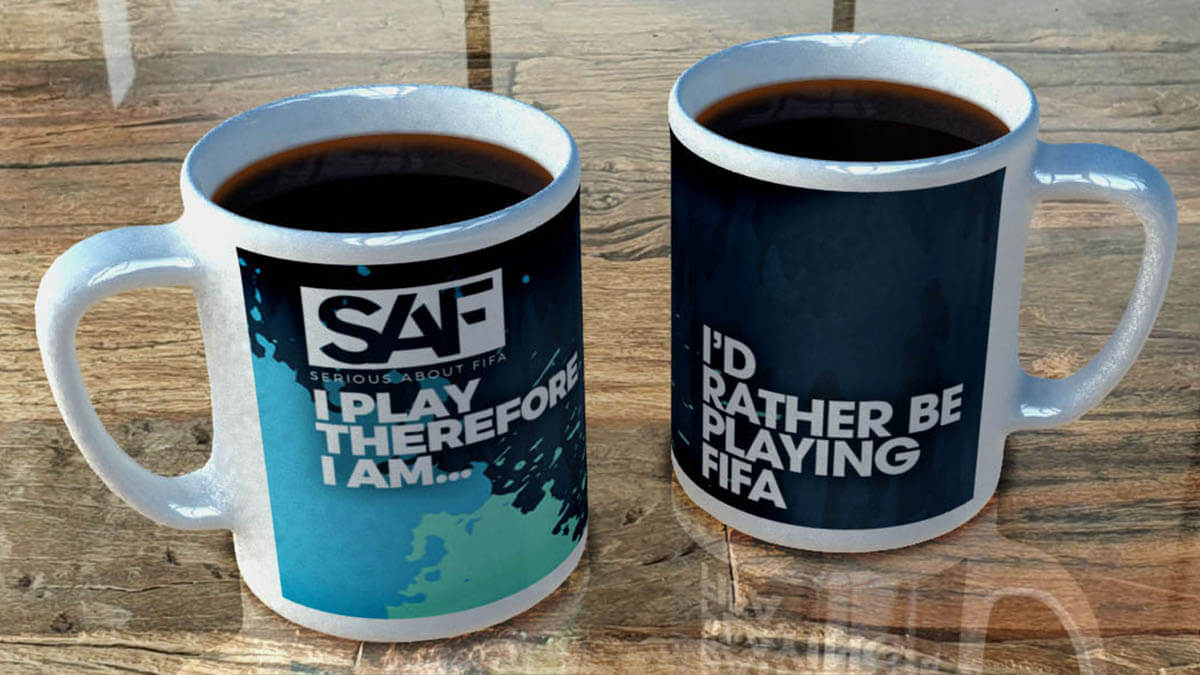 3D product visualisation SAF mug render