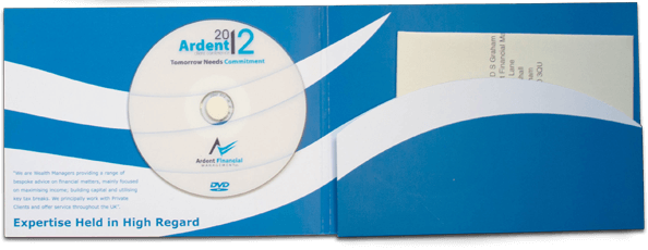 Ardent Folded Brochure and CD