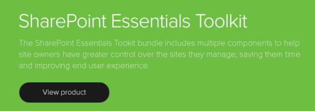 SharePoint Essentials Toolkit