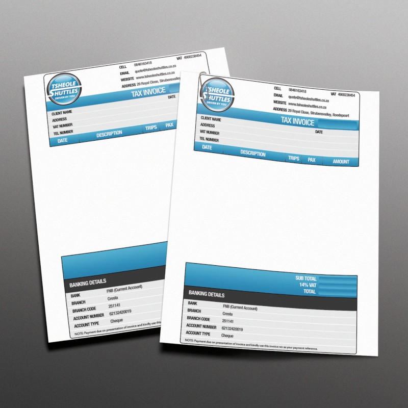 MS Excel invoice template pricing South Africa   Cognite Marketing Custom MS Excel Invoice Templates