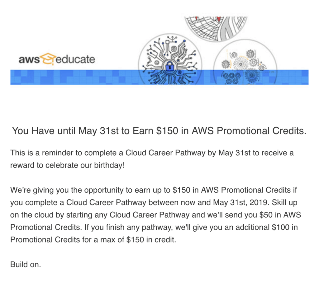 Get Up to $150 in AWS Credits