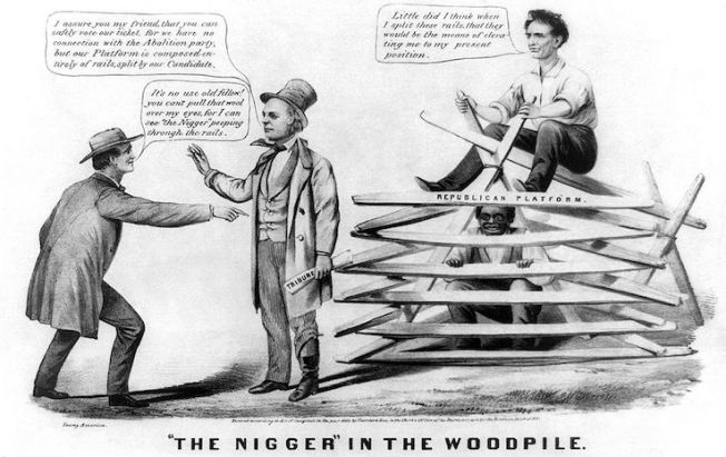 nigger in a woodpile