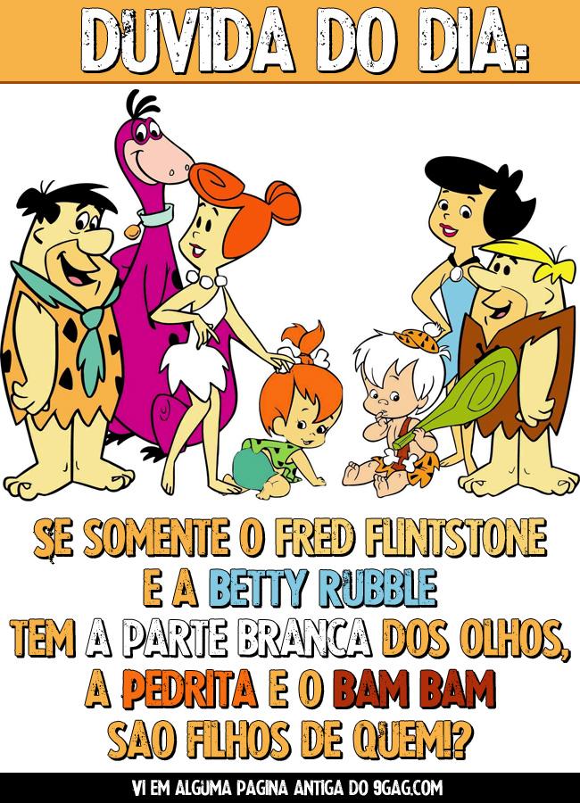 Flintstones Olhos 00 jb Genética   despertando a curiosidade desde a idade da pedra