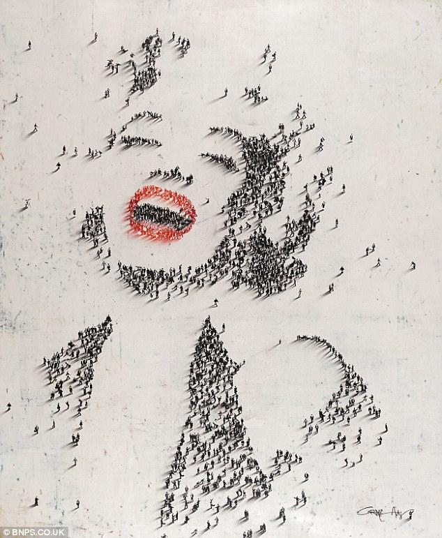 arte com pessoas 1 Pinturas de retratos famosos (Craig Alan)