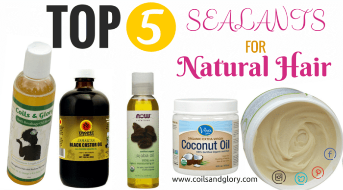 natural hair sealants