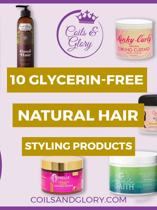 glycerin free natural hair products