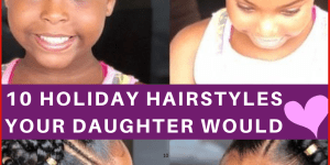 black kids holiday hairstyles