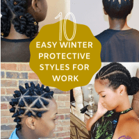 10 Easy Natural Hair Winter Protective Hairstyles For Work Without Extensions