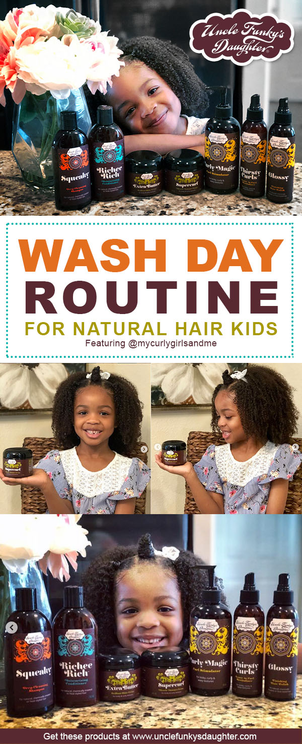 Simple Wash Day Routine For Natural Hair Kids in Five Steps