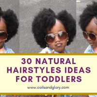 30 Cute and Easy Natural Hairstyle Ideas For Toddlers