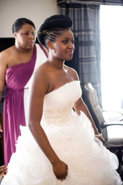 natural hair updo for wedding